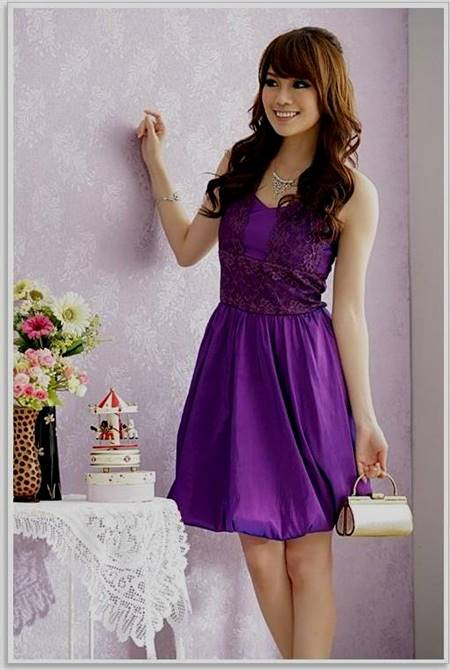casual lace purple dresses