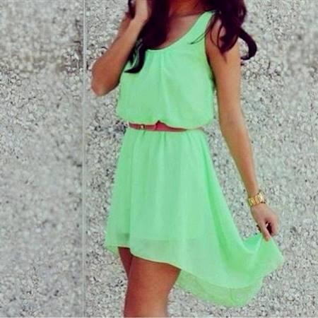 casual light green dress