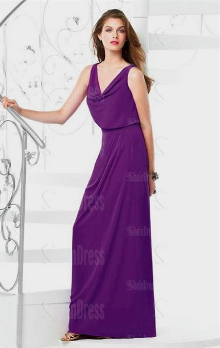casual purple bridesmaid dresses