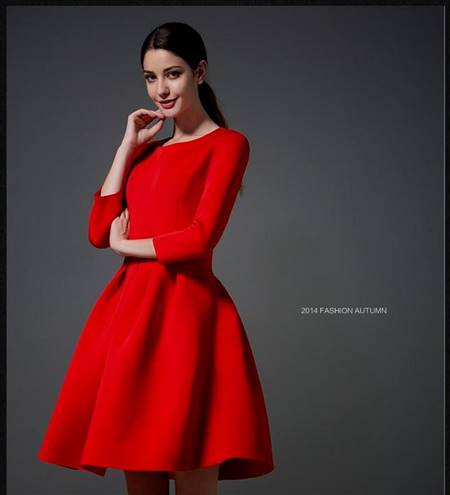casual winter red dress