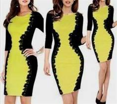 casual yellow lace dress