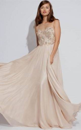champagne mermaid prom dresses