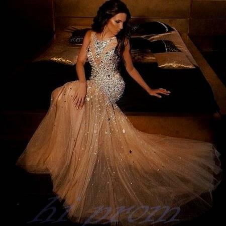 champagne prom dresses