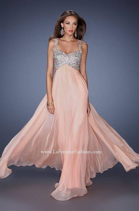 chiffon prom dresses with straps