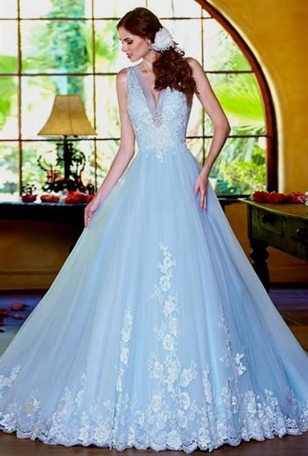 cinderella wedding dress blue