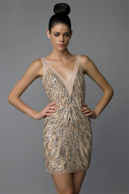 cocktail dress black and gold