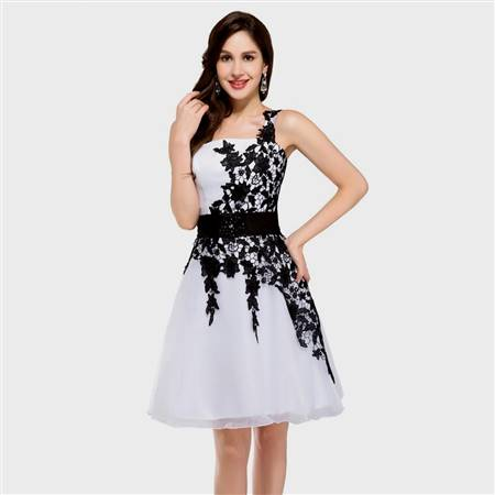 cocktail dress black and white