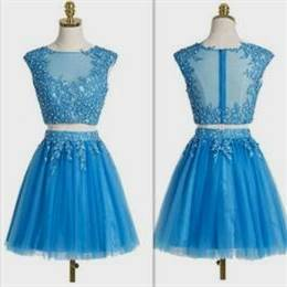 cocktail dress for teenage girls blue