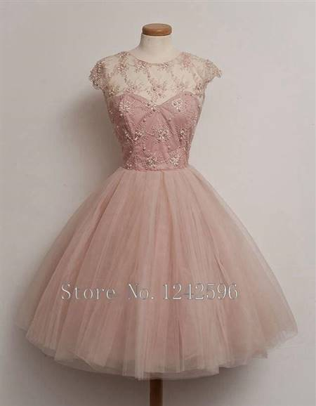 cocktail dress for teenage girls pink