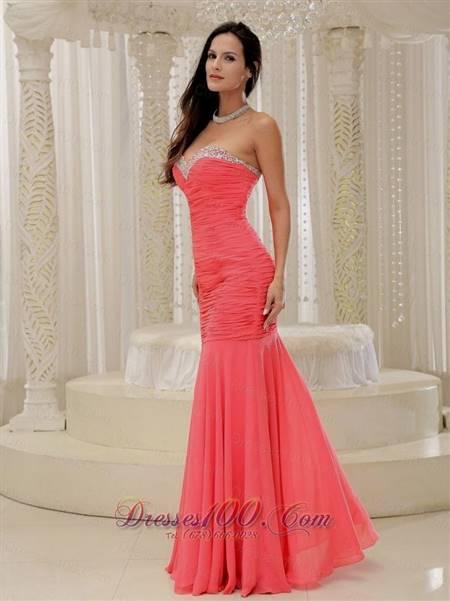 coral mermaid prom dresses