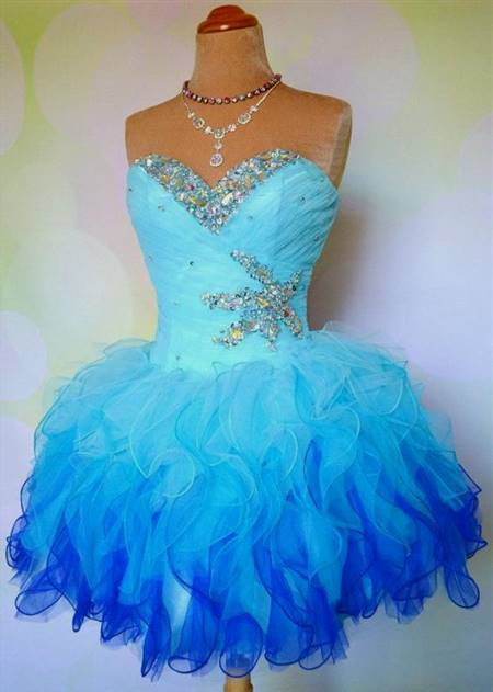 cute blue prom dresses