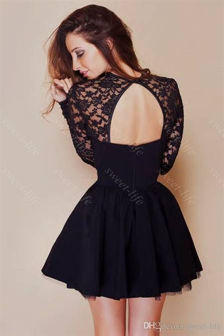 cute cocktail dress with sleeves