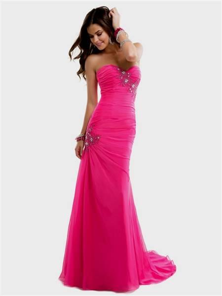 cute hot pink prom dresses