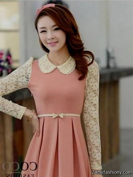 cute korean cocktail dress