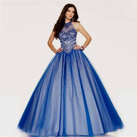 dark blue ball gown