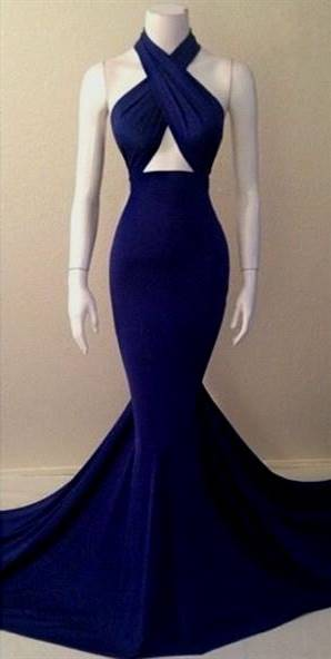dark blue mermaid dress