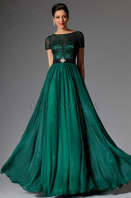 Dark Green Ball Gown B2b Fashion