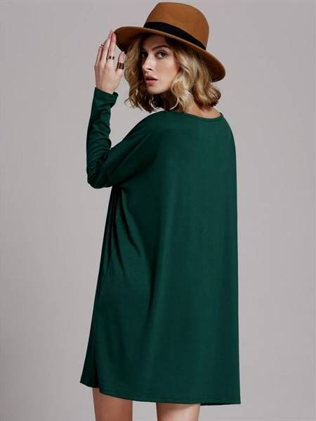 dark green casual dresses
