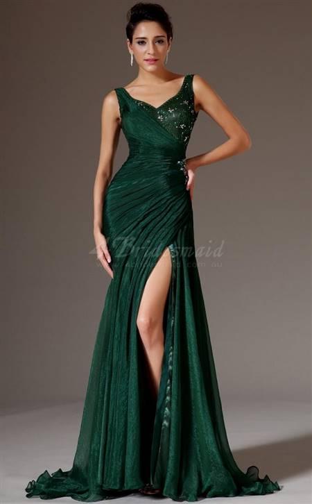 dark green dresses