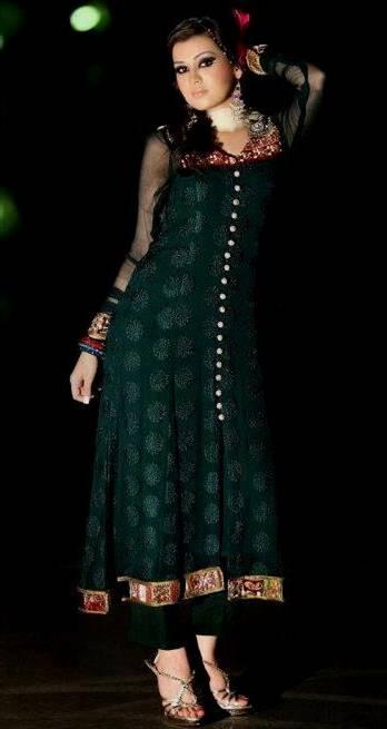 dark green dresses pakistani