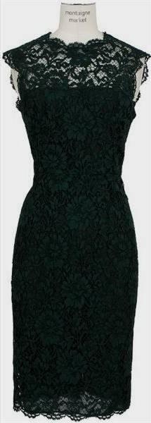 dark green lace dresses