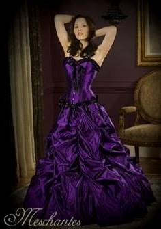 dark purple and black wedding dresses