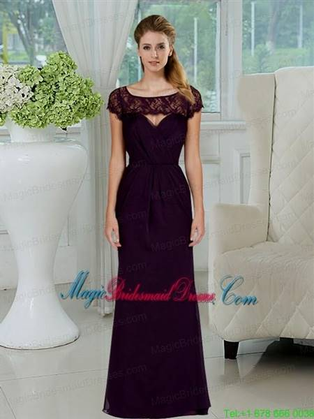 dark purple lace bridesmaid dresses