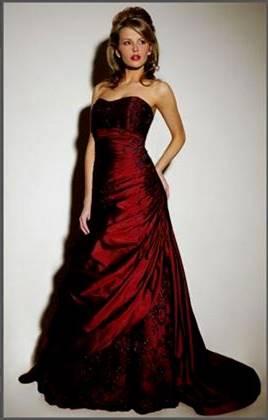 dark red dress for wedding