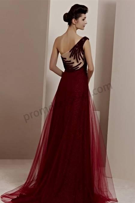 dark red prom dresses