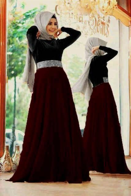 dress muslim remaja warna hitam