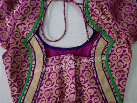 dress neck designs with patch work