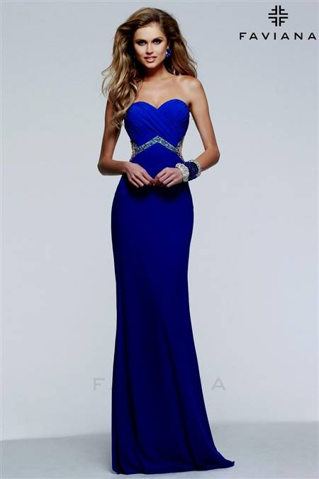 dresses for prom blue