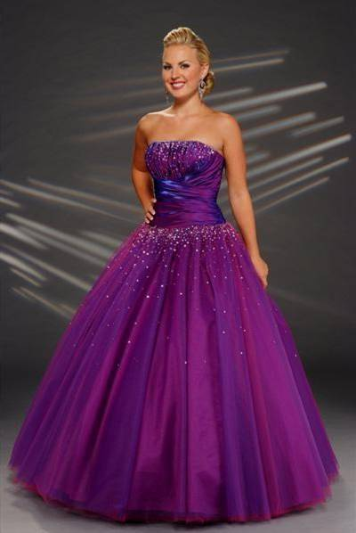 dresses for prom purple