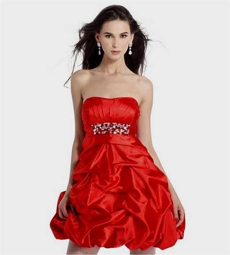 dresses for teenagers for homecoming red