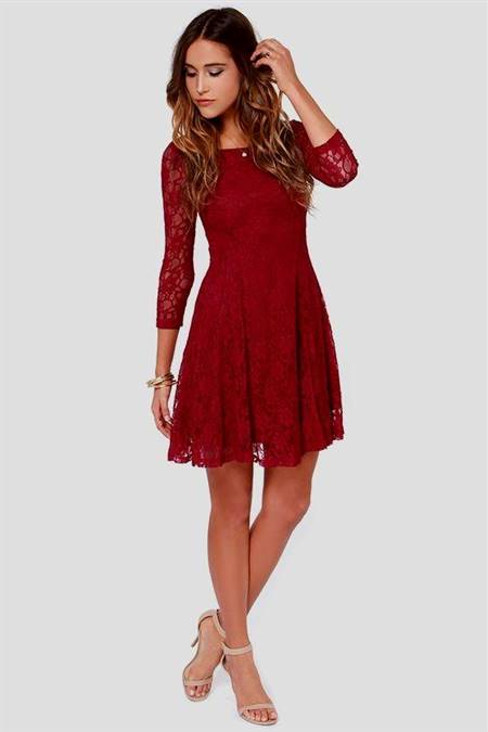 dresses with lace sleeves