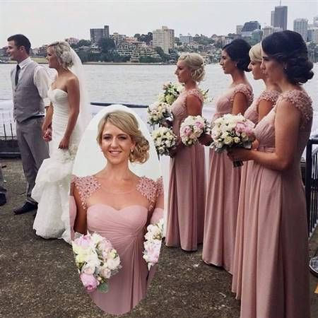dusty pink bridesmaid dresses