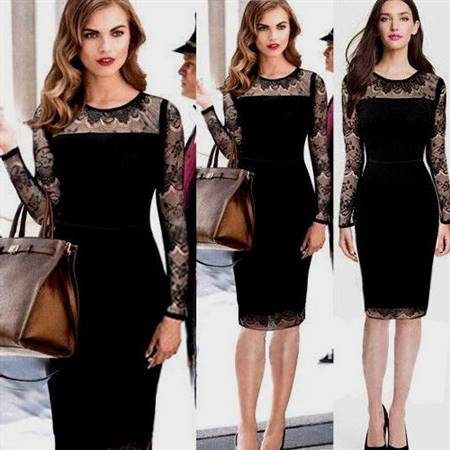 elegant black party dress with sheer sleeve
