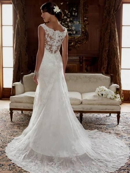 elegant lace open back wedding dresses