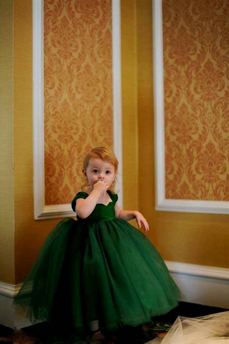 emerald green ball gown for kids