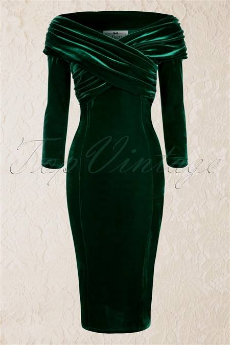 emerald green cocktail dress wide belt