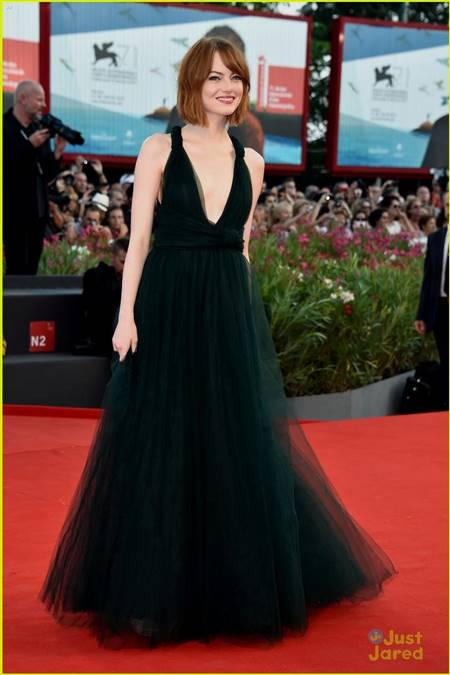 emma stone red carpet dresses