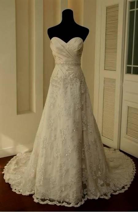 fancy lace wedding dresses