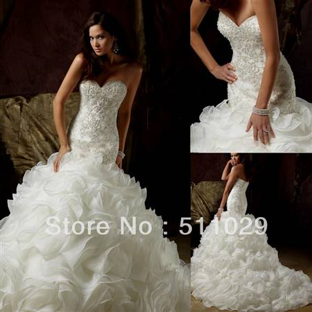 fancy mermaid wedding dresses