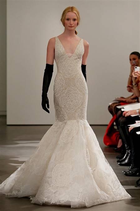 fishtail wedding dress vera wang