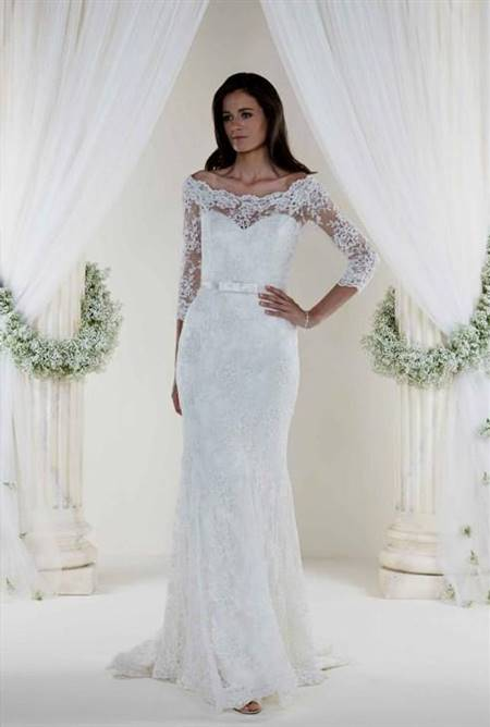fishtail wedding dress with sleeves