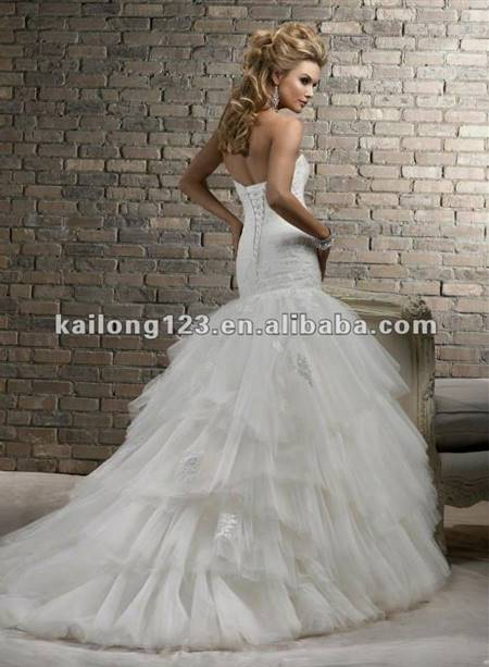 fit and flare corset wedding dress