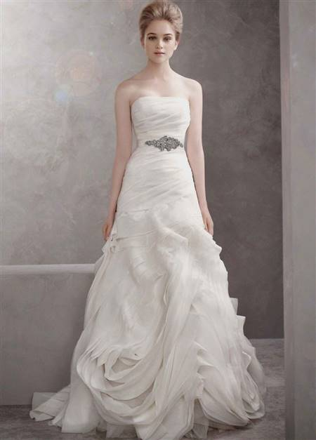 fit and flare low back wedding dress