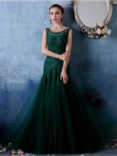 Forest Green Ball Gown B2b Fashion