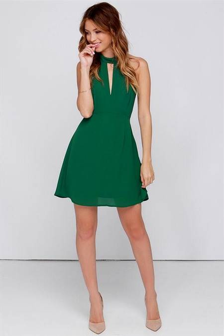 forest green dress