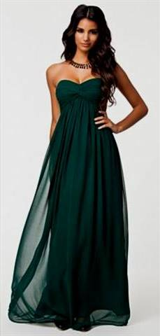 forest green dress for bridesmaid